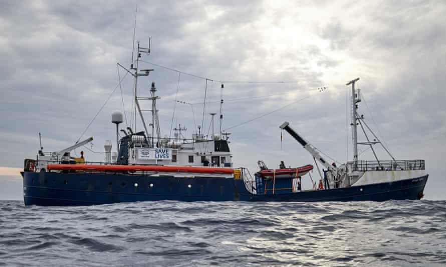 The Sea-Watch rescue ship sails in the waters off Libya earlier this year.