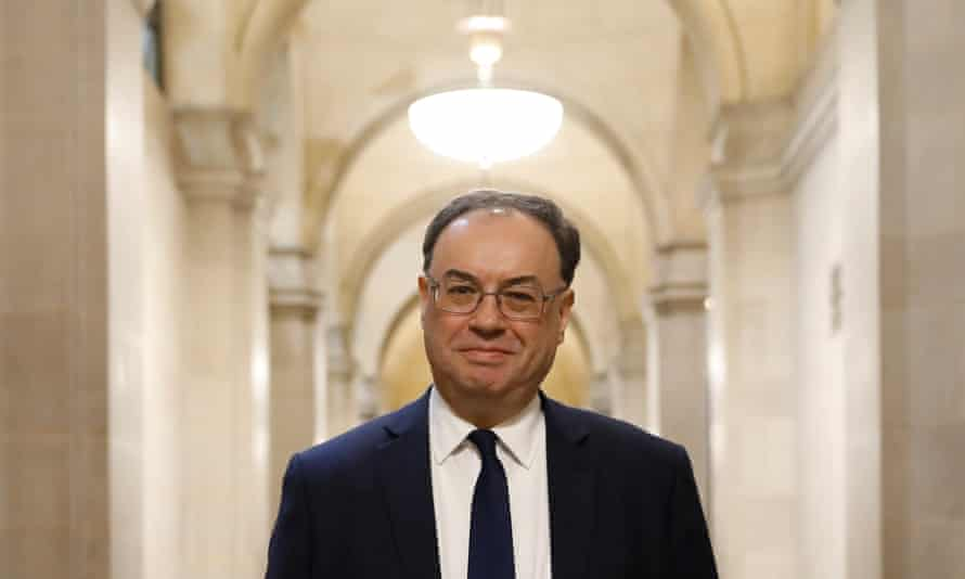 The Bank of England governor, Andrew Bailey