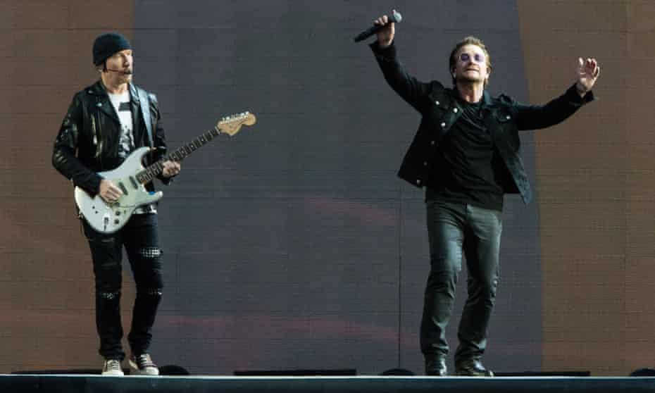 The Edge and Bono on Saturday.