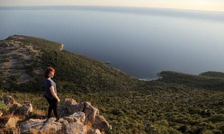 Maddy enjoys a view near Lubenice