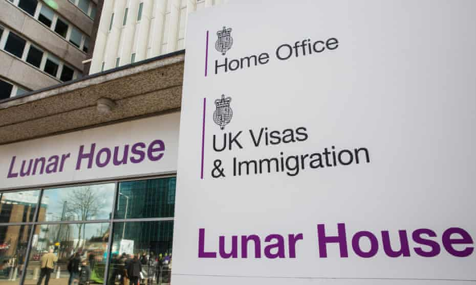 The Home Office UK visas & immigration office at Lunar House in Croydon.