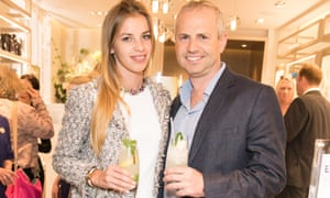Ocado chief executive Tim Steiner and his partner, the Polish lingerie model Patrycja Pyka, at an event in Mayfair.