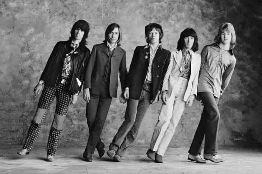 The Rolling Stones, from left to right: Keith Richards, Charlie Watts, Mick Jagger, Bill Wyman and Mick Taylor.