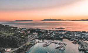 Mallaig harbour at sunset