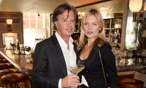 Richard Caring, pictured with Kate Moss.