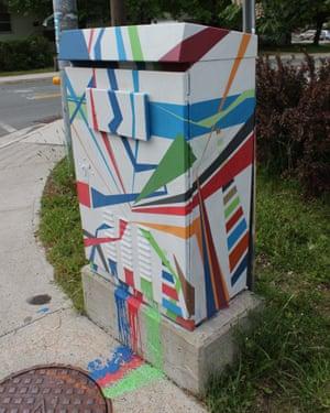 Painted traffic control box