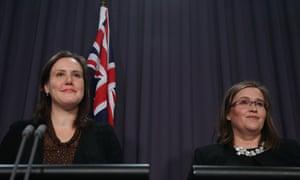 Kelly O'Dwyer and sex discrimination commissioner Kate Jenkins