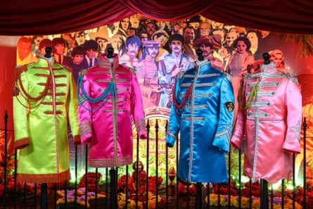 SGT PEPPER costumes at the Beatles Story, Liverpool