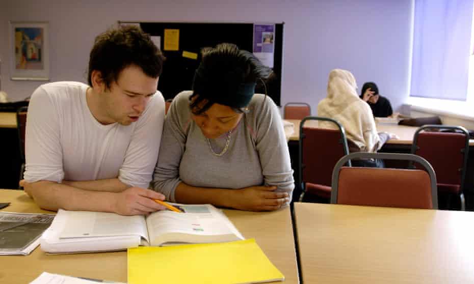 Students at London Metropolitan University