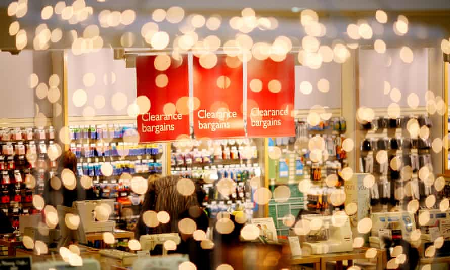 The haberdashery department in the John Lewis department store on Oxford Street, London