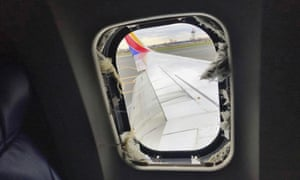 The window that was shattered in the Southwest jet.