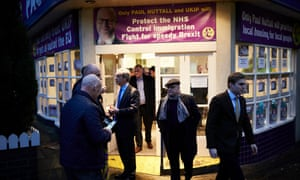 Nigel Farage at Ukip's Stoke Central campaign office