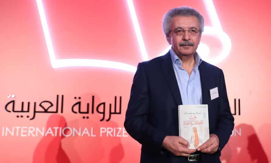 Palestinian writer Ibrahim Nasrallah at the 2018 International prize for Arabic fiction award ceremony in Abu Dhabi.