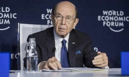 Wilbur Ross at Davos last week. The coronavirus has killed more than 170 people in China.