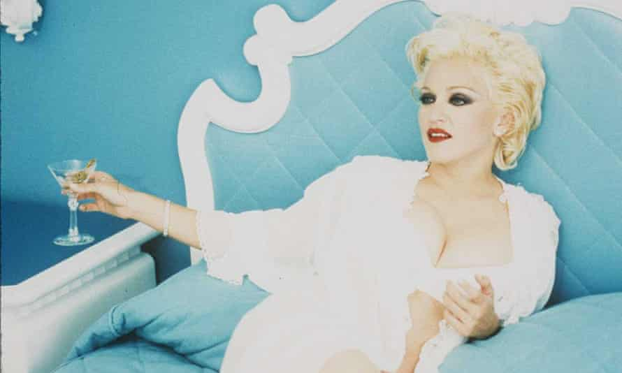 Madonna in 1994, on the release of her sixth album Bedtime Stories.
