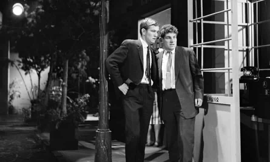 Trevor Peacock, right, with Tom Courtenay in the 1963 television play The Lads.