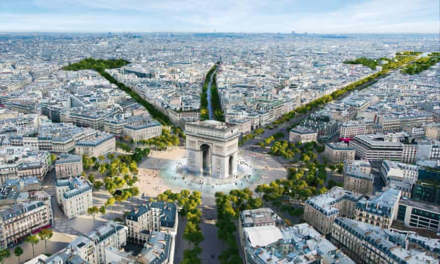 An image released by the architectural firm PCA-Stream showing the planned redevelopment of the Champs-Élysées