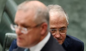 The treasurer, Scott Morrison, and the prime minister, Malcolm Turnbull during question time on Tuesday.