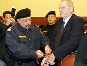David Irving in Austria after being imprisoned for Holocaust denial in 2006.
