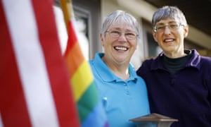 A ban on gay marriage was struck down in Wyoming earlier this month.