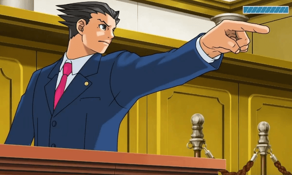 Unwavering belief … Phoenix Wright.