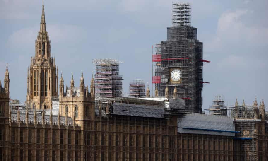 'You can barely even tell what you're looking at' … Big Ben undergoes maintenance work.