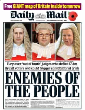 Daily Mail cover 'Enemies of the People'