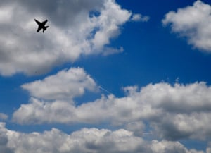 A US Air Force FA-18 Hornet takes part in a military exercise.