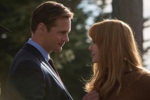 What secret is she hiding? … Nicole Kidman as Celeste with Alexander Skarsgård as Perry.