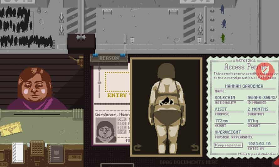 Lucas Pope's 2013 game Papers, Please: 'an extraordinary tale of nationalism'.