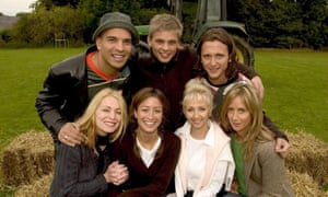 Jeff Brazier, top row centre, has appeared in a string of reality TV shows including 2004's The Farm