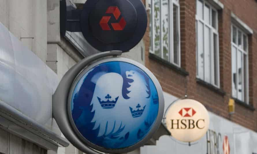 Natwest, HSBC and Barclays Bank signs