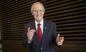 He didn't laugh at but with ... Nicholas Parsons.