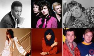 Clockwise from top left: Marvin Gaye, Siouxsie and the Banshees, George Michael, Electronic, Carly Simon and Rod Stewart.