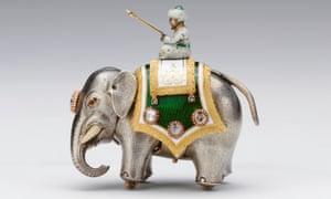 Silver Fabergé elephant