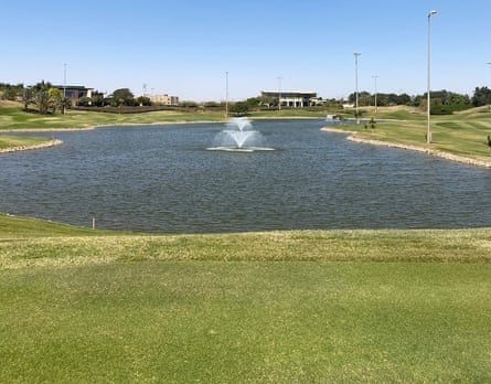 The artificial lake at Fenti Golf, a facility just outside Khartoum