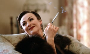 "Frances Barber as ""the Bolter"", so named because she can't stay with one man, in the BBC adaptation of Love in a Cold Climate."