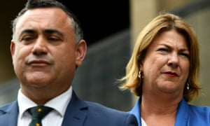 NSW deputy premier John Barilaro and water minister Melinda Pavey