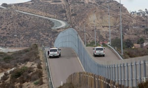 Border Patrol agents patrol the US-Mexico border at Friendship Park in San Ysidro, California.