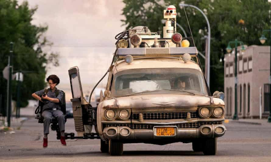 McKenna Grace and Finn Wolfhard in Ghostbusters: Afterlife.