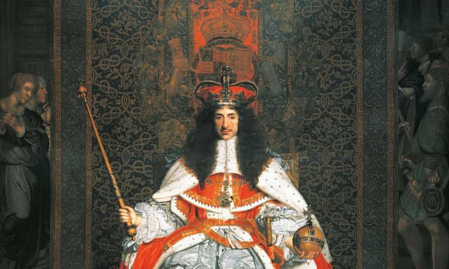 Portrait of Charles II (detail).