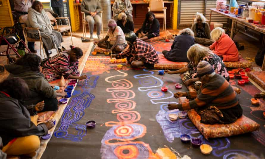 APY women artists at work at Amata, central Australia