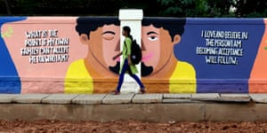 About 250 artists have painted murals on walls to spread awareness about suicide prevention and mental health in Bangalore, India