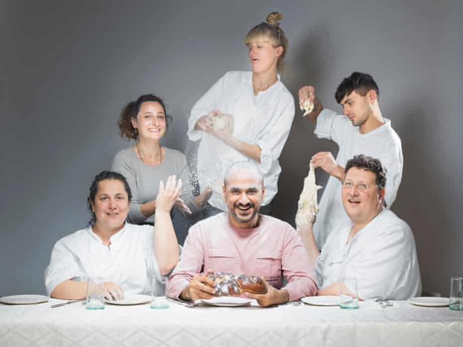 Honey & Co's Sarit Packer, Itamar Srulovich and staff surround the man they knew as Gavin Ambani.