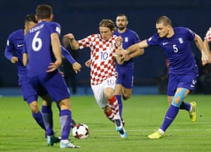 Luka Modric v Greece in November.
