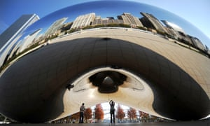 Self-reflection … Anish Kapoor's Cloud Gate in Chicago.