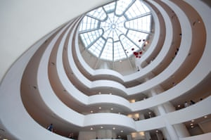 Interior of the Guggenheim museum by Frank Lloyd Wright.