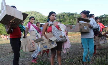 Shuar women have been the sole residents of Tsuntsuim since most of the men have gone into hiding