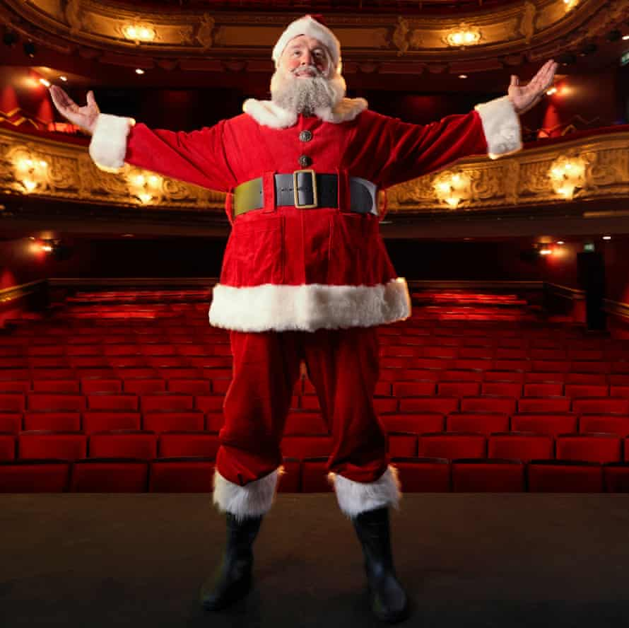 Marcus Hendry as Father Christmas, photographed at the Lyric Hammersmith, November 2020