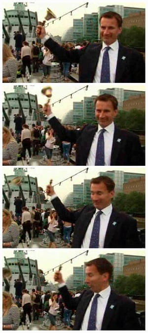 Dropping a clanger … then Olympics minister Jeremy Hunt in 2012.